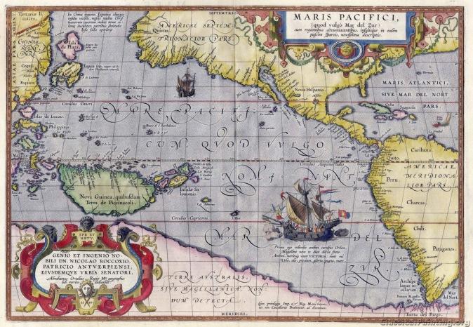 Mapa de los mares del sur